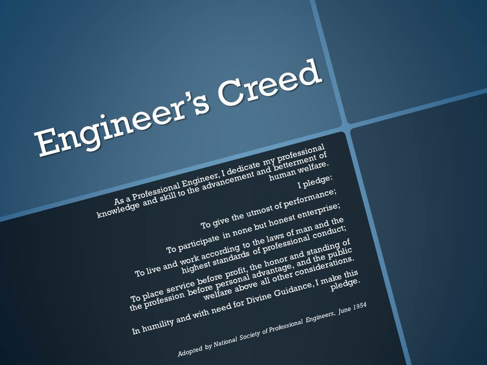 Engineer's Creed